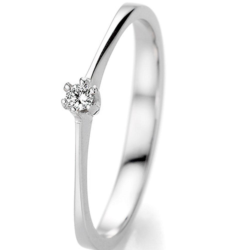 Eleganter Verlobungsring Aus Weissgold Zu Einem Sagenhaften Preis