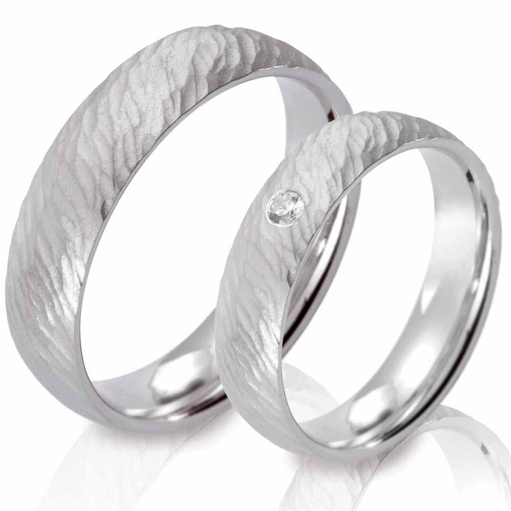 Hochzeitsringe Aus Silber Mit Struktur
