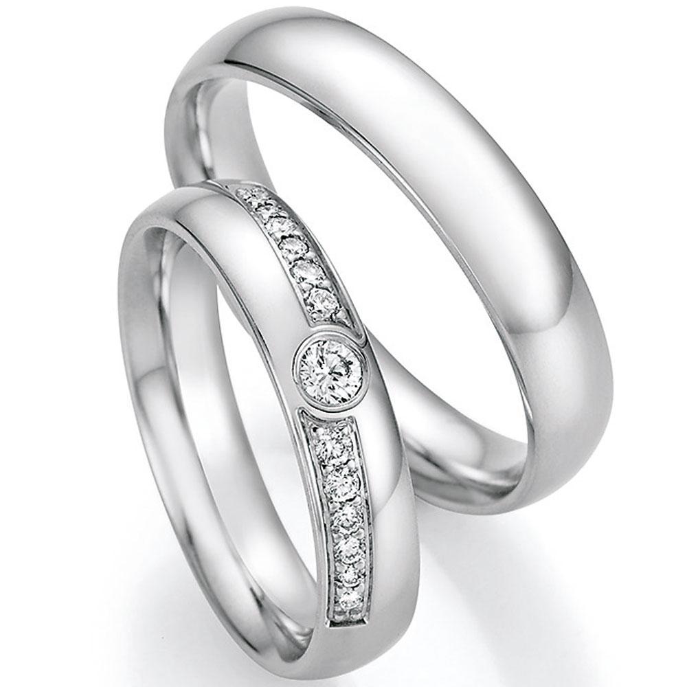 Guzhile Hochzeitsringe 925 Sterling Silber Paar Ringe Damen