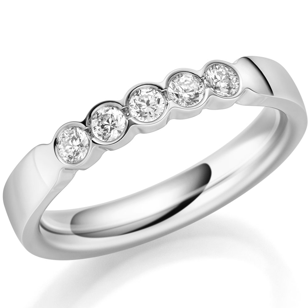 Exclusiver Memoire Ringe mit 0,25 ct Brillanten