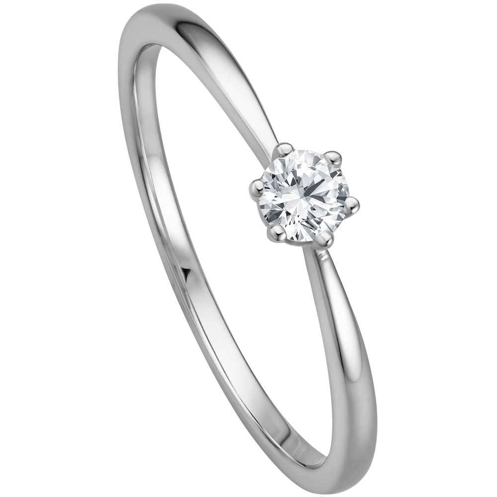 Verlobungsringe Weissgold | Verlobungsring Mit 0 17 Ct Aus 585 Weissgold