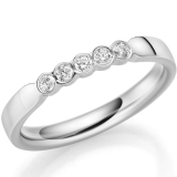 Memoire Ring mit 5 Brillanten zus. 0,15 ct