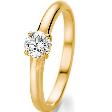 Verlobungsring mit 0,5 ct Brillanten aus Gelbgold