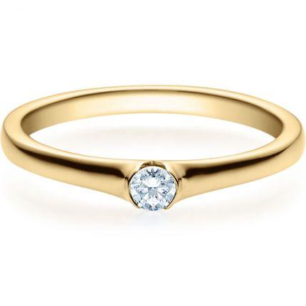 Verlobungsring 9918022 aus Gelbgold mit 0,10 Brillant