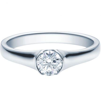 Verlobungsring 9918022 aus Weißgold mit 0,5 GIA Brillanten
