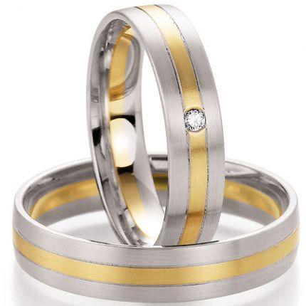 Hochzeitsringe Weißgold und Gelbgold