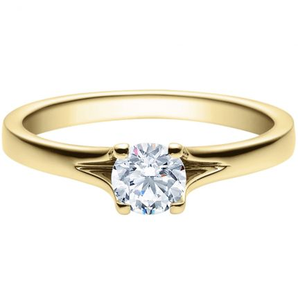 Verlobungsring 9918020 aus Gelbgold mit 0,50 ct Brillanten