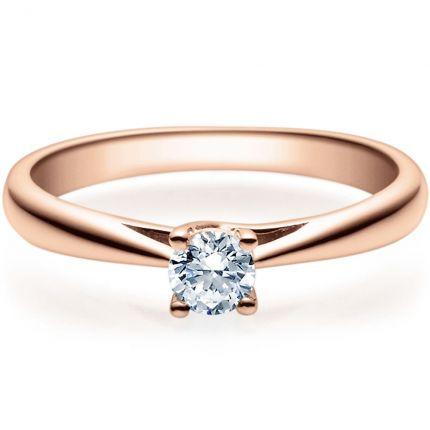 Verlobungsring 9918002 aus Rotgold mit 0,25 ct Brillant in 4er Krappe