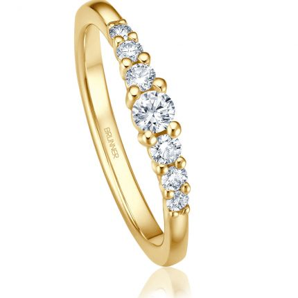 Verlobungsring Gelbgold 7 Brillanten - Kollektion Brunner