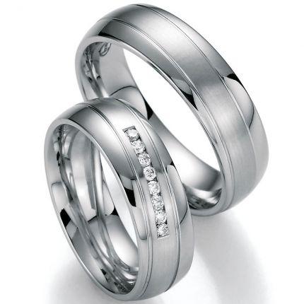Hochzeitsringe in edlem Design mit 8 Brillanten