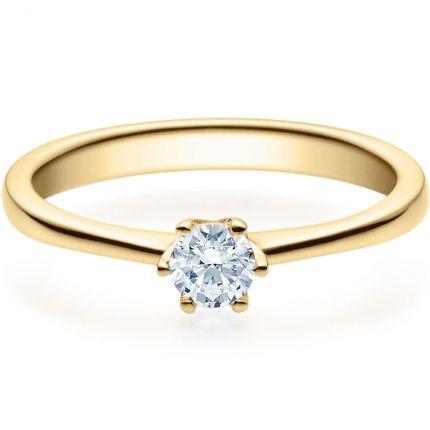 Verlobungsring 9918016 aus Gelbgold mit 0,25 ct Brillanten