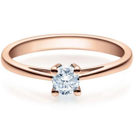 Verlobungsring 9918010 aus Rotgold mit 0,25 ct Brillanten