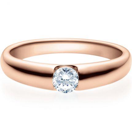 Verlobungsring 9918005 in Spannringoptik aus Rotgold mit 0,25 ct