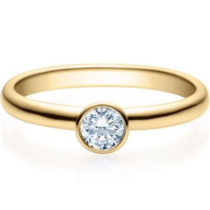 Verlobungsring 9918019 aus Gelbgold mit 0,25 ct Brillanten