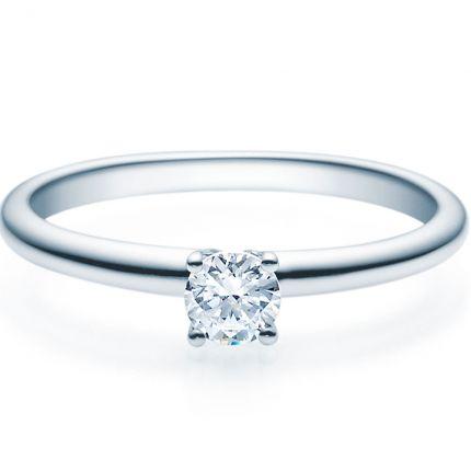 Verlobungsring 9918018 aus Weißgold mit 0,25 ct TW/SI Brillant