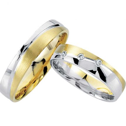 Ringpaar 99R808 aus 333 Gelbold und 333 Weißgold