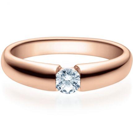 Verlobungsring 9918006 aus Rotgold mit 0,25 ct Brillant