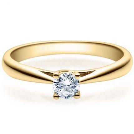 Verlobungsring 9918002 aus Gelbgold mit 0,25 ct Brillant in 4er Krappe