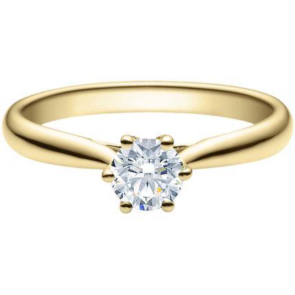 Verlobungsring 9918007 aus Gelbgold mit 0,50 ct Brillanten