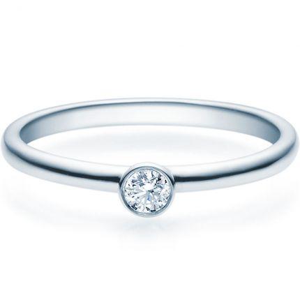 Verlobungsring 9918019 aus Weißgold mit 0,1 ct Brillanten