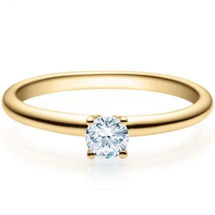 Verlobungsring 9918018 aus Gelbgold mit 0,25 ct TW/SI Brillant