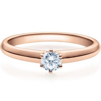 Verlobungsring 9918003 aus Rotgold mit 0,25 ct Brillant