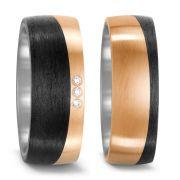 Trauringe mit Bronze und Carbon