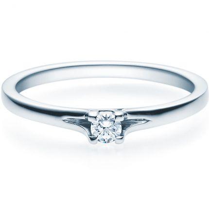 Verlobungsring 9918020 aus Weißgold mit 0,10 ct Brillant