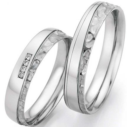 Ringpaar 9988/23070-045 mit tollem Oberflächenmix
