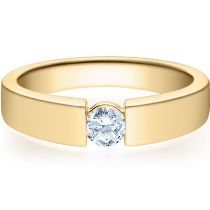 Verlobungsring 9918012 aus Gelbgold mit 0,25 ct Brillanten