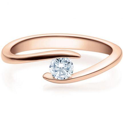 Verschlungener Verlobungsring 9918015 aus Rotgold mit Brillant