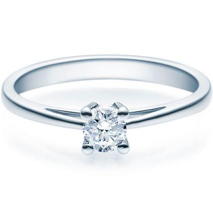 Verlobungsring 9918010 aus Weißgold mit 0,25 ct Brillanten