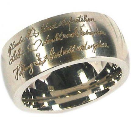 Glaube Liebe Hoffnung Ring aus Edelstahl