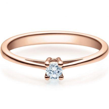 Verlobungsring 9918010 aus Rotgold mit 0,10 ct TW/SI Brillant