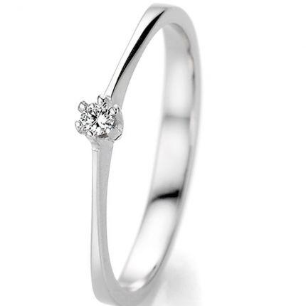 Eleganter Verlobungsring aus Weißgold zu einem sagenhaften Preis