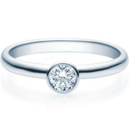 Verlobungsring 9918019 aus Weißgold mit 0,25 ct Brillanten