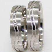 Eheringe aus Silber mit polierter Welle