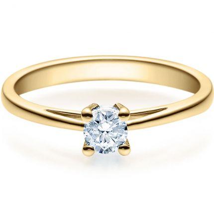 Verlobungsring 9918010 aus Gelbgold mit 0,25 ct Brillanten