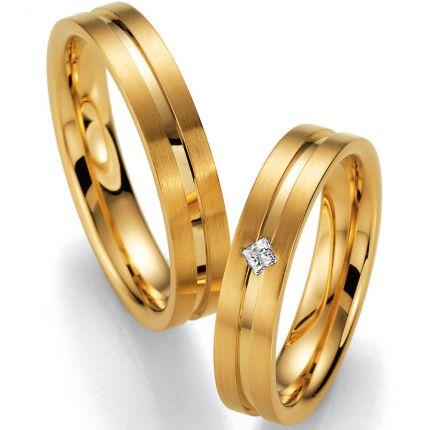 Hochzeitsringe Gelbgold mit Princess