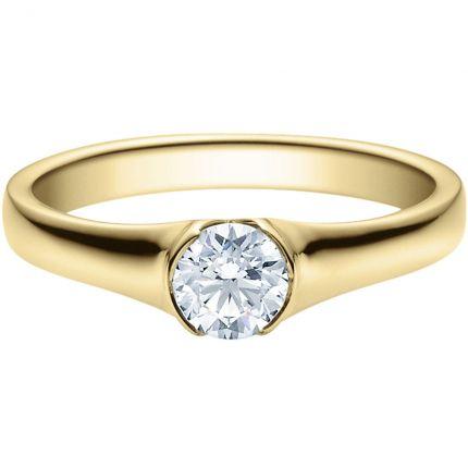 Verlobungsring 9918022 aus Gelbgold mit 0,5 GIA Brillanten