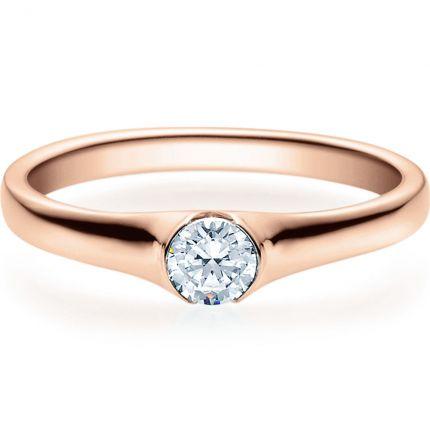 Verlobungsring 9918022 aus Rotgold mit 0,25 ct Brillant