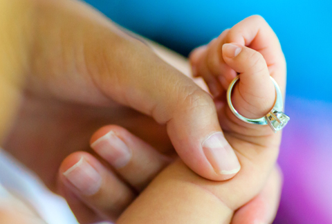 Durch fingern schwanger