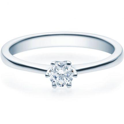 Verlobungsring 9918016 aus Weißgold mit 0,25 ct Brillanten