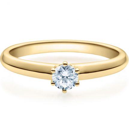 Verlobungsring 9918003 aus Gelbgold mit 0,25 ct Brillant