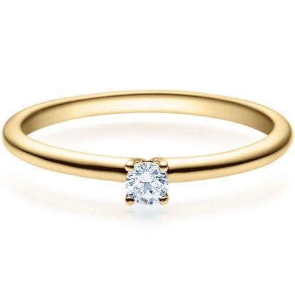 Verlobungsring 9918018 aus Gelbgold mit 0,10 ct Brillant