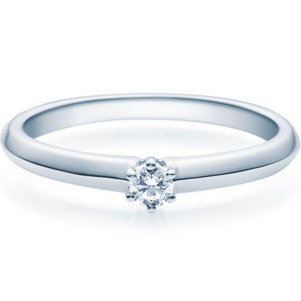 Verlobungsring 9918003 aus Weißgold mit 0,10 ct Brillant
