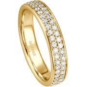 Vorsteckring Memoire Ringe aus Gelbgold mit 88 Brillanten
