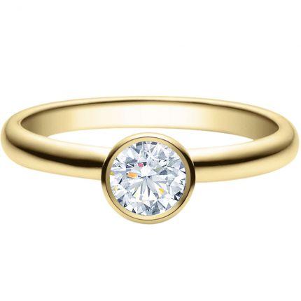 Verlobungsring 9918019 mit 0,5 ct GIA Brillanten aus Gelbgold