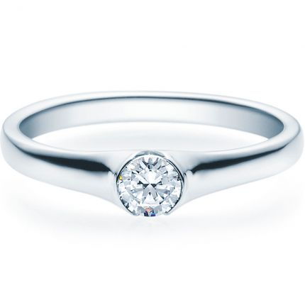 Verlobungsring 9918022 aus Weißgold mit 0,25 ct Brillant
