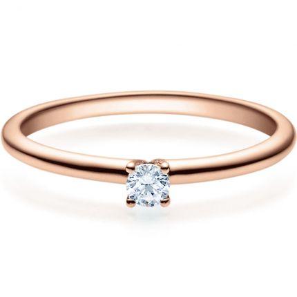 Verlobungsring 9918018 aus Rotgold mit 0,10 ct Brillant